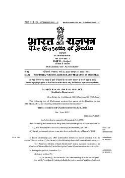THE CITIZENSHIP (AMENDMENT) ACT, 2015 2015 2015th March, 2015.]An Act