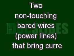 Two non-touching bared wires (power lines) that bring curre PowerPoint PPT Presentation