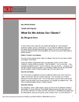 What Do We Advise Our Clients? 1/29/10 2:16 PM