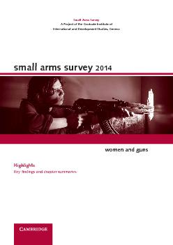 small arms survey 2014women and guns