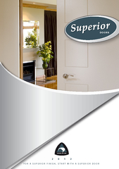 FOR A SUPERIOR FINISH, START WITH A SUPERIOR DOOR