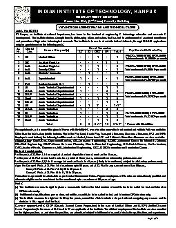 INDIAN INSTITUTE OF TECHNOLOGY, KANPURRECRUITMENT SECTION