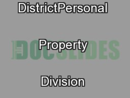 Harris County Appraisal DistrictPersonal Property Division (12/10) ...