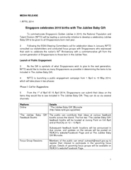 1 MEDIA RELEASE 1 APRIL 2014 Singapore celebrates 2015 births with The