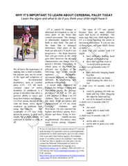 WHY IT'S IMPORTANT TO LEARN ABOUT CEREBRAL PALSY TODAY Learn the