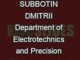 static speed control system for triaxial telescope scanning axis SUBBOTIN DMITRII Department of Electrotechnics and Precision Electromechanical Systems University ITMO  Saint Petersburg Kronverkskiy