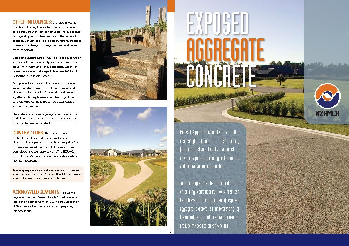 Exposed Aggregate Concrete is an option increasingly chosen by those l