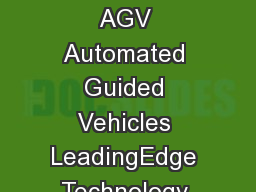 AGV Lift AGV Automated Container Transport Proven Technology from Gottwald  AGV Automated Guided Vehicles LeadingEdge Technology for PerformanceAware Container Terminals Automated solutions for incre