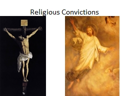 Religious Convictions PowerPoint PPT Presentation