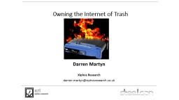 0 wning the Internet of Trash