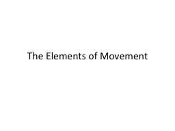 The Elements of Movement