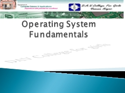 Operating System Fundamentals PowerPoint PPT Presentation