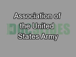 Association of the United States Army PowerPoint PPT Presentation