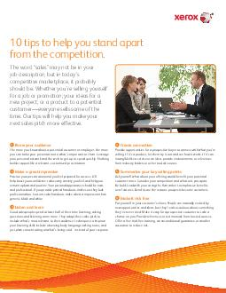 tips to help you stand apart from the competition