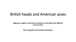 British heads and American PowerPoint PPT Presentation