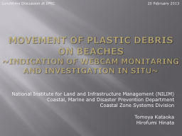 Movement of plastic debris on beaches PowerPoint PPT Presentation