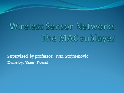 Wireless Sensor Networks PowerPoint PPT Presentation