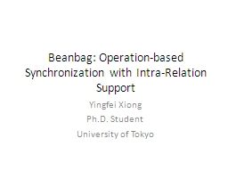 Beanbag: Operation-based Synchronization with Intra-Relatio