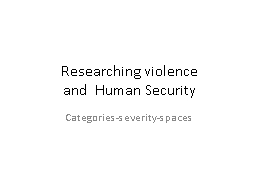 Researching violence