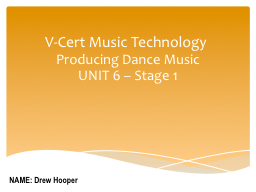 V-Cert Music Technology