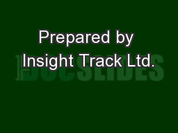 Prepared by Insight Track Ltd.