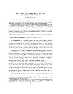 VERA GING AND VIBRA TIONAL CONTR OL OF MECHANICAL SYSTEMS FRANCESCO BULLO Abstract