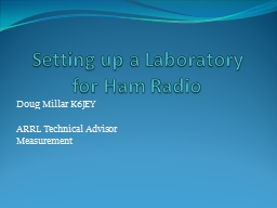 Setting up a Laboratory PowerPoint PPT Presentation