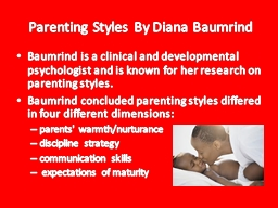 Parenting Styles By Diana