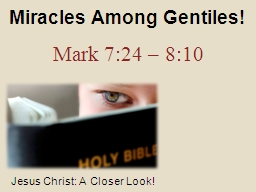Miracles Among Gentiles