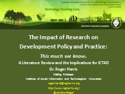 The Impact of Research on