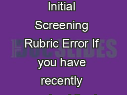 Level I  ELPA Initial Screening Rubric Error If you have recently received the L PDF document - DocSlides