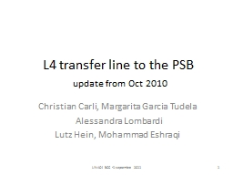 L4 transfer line to the PSB