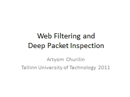 Web Filtering and