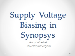Supply Voltage