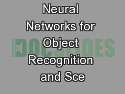 Hierarchical Neural Networks for Object Recognition and Sce