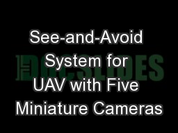 See-and-Avoid System for UAV with Five Miniature Cameras