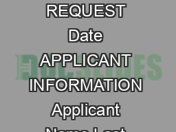 ADMISSIONS APPEAL REQUEST Date APPLICANT INFORMATION Applicant Name Last First M PowerPoint PPT Presentation