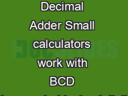 how to add binary coded decimal