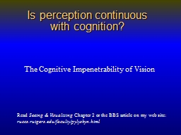 Is perception continuous