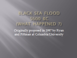 Black Sea Flood