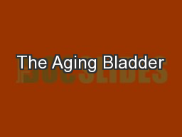 The Aging Bladder PowerPoint PPT Presentation