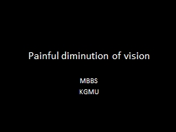Painful diminution of vision