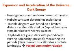 Expansion and Acceleration of the Universe: Dark Energy