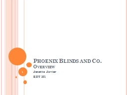 Phoenix Blinds and Co. PowerPoint PPT Presentation