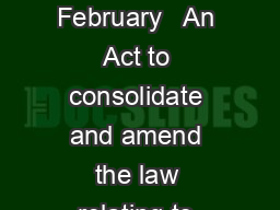 THE BOILERS ACT   of  rd February   An Act to consolidate and amend the law relating to steam boilers PDF document - DocSlides
