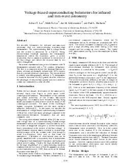 C Voltagebiased superconducting bolometers for infrared and mmwave astronomy Adrian T PDF document - DocSlides