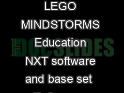 RO BOT Boolean Logic  Carnegie Mellon Robotics Academy  For use with LEGO MINDSTORMS Education NXT software and base set  Reference Boolean Logic Conditions ROBOTC control structures that make decisi