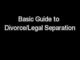 Basic Guide to Divorce/Legal Separation