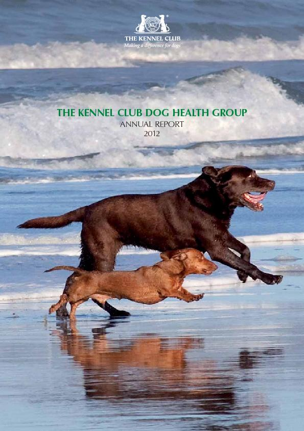 THE KENNEL CLUB DOG HEATH GROUP ANNUAL REPORT 2012INTRODUCTIONThe Dog PowerPoint PPT Presentation