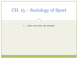 1 – the nature of sport